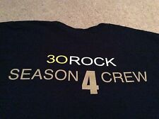 30 Rock TV Show Season 4 Local Crew Black T-Shirt Large Vulcan Very Rare!!