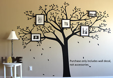 LARGE Family Tree Wall Sticker Decal Vinyl Photo Picture Frame Removable  Black