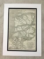 Antique Print Battle of the Alma Crimean War Map Allied Army Circa 1855