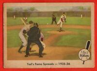 1959 Fleer #5 Ted Williams GOOD+ CREASE HOF Boston Red Sox FREE SHIPPING