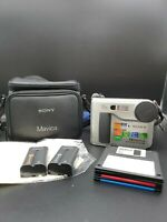 Sony Mavica MVC-FD75 Digital Still Camera w/2 Batteries,  Bag, Discs, No Charger