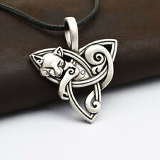 Men Viking Jewelry Fox Triquetra Animal Necklace Knot Pendant Amulet Gift Exquis