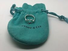 Tiffany & Co Elsa Peretti Open Heart Sterling Silver Ring, size G 1/2.