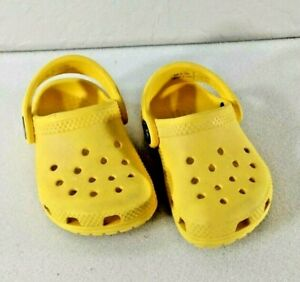 Baby Toddler  Croc Shoe - SIZE 4 Yellow