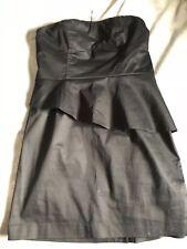 Hot Options Strapless Pepulum Black Dress Size 14