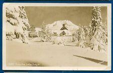 Timberline Lodge Oregon Real Photo Postcard Dead Post Office DPO cancel RPPC or