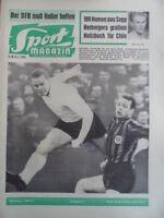 SPORT MAGAZIN KICKER 3 A - 15.1. 1962 Reutlingen-Frankfurt 4:2 Fürth-KSC 1:1
