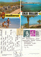 1980's MULTI VIEWS OF CALA MILLOR MALLORCA SPAIN COLOUR POSTCARD
