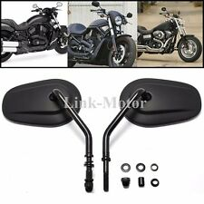 Motorcycle Black Rearview Mirrors for Harley Davidson Flstc Fxdb Dyna Fxdf 8mm