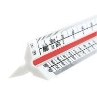 "Helix 300mm / 12"" Metric Triangular Scale Rule Solid Plastic Ruler"