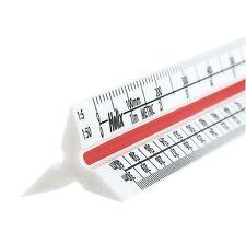 """Helix 300mm / 12"""" Métrico Triangular Báscula Regla MACIZO Plástico Regla"""