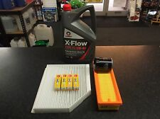 SERVICE KIT FIATGRANDE PUNTO (199) OIL AIR CABIN FILTERS SPARKS PLUGS 5L XFLOW