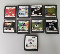 Nintendo DS Lot of 9 Games - Cars, Lego Star Wars, Daniel X, Racing, Music