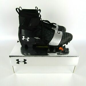 Under Armour C1N MC Mens Football Cleats Black/Silver Cam Newton Hi 3000175-001