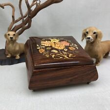 Sorrento Vintage Italian Music Box Lara's Theme Wooden Inlay Flowers