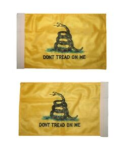 "8""x12"" Gadsden Don't Tread on me Nylon Boat Motorcycle Car Double Sided Flag"