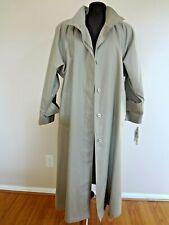 """London Fog"" Lady's Rain Coat 6 Regular Lightweight Teflon Breathable NEW"