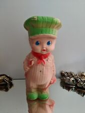 Vintage  Train Conductor, Mechanic Squeak Doll- The Sun Rubber Co.