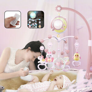 Baby Bed Bell Mobile Kids Crib Musical Mobile Cot Music Box Baby Rattles Toy
