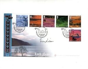 """Richard Wilson """"Loch Ness"""" Signed Buckingham Cover 2003 FDC Autographed"""