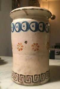 Meraviglioso Vaso in maiolica smaltata decorata Grottaglie Puglia XIX SEC.