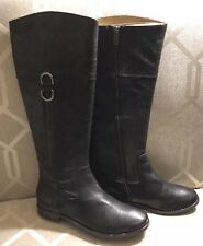 NWT $428 Authentic FRYE Anna D Ring Black Leather Equestrian Riding Boots Sz 8