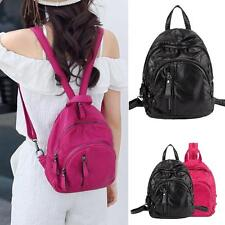 Faux Leather Ladies Girl Small Mini Sling Backpack Ruchsack Chest Pack Purse Bag