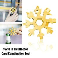 18-1 Multi-tool Combination Compact Portable Outdoor 18 in 1 Snowflake Tools_HOT
