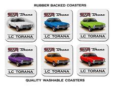 HOLDEN  LC   GTR-XU1     TORANA     SET OF 6  QUALITY RUBBER DRINK  COASTERS