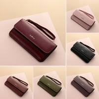 Women's Leather Long Wallet Party Clutch Card Holder Money Bag Coin Purse