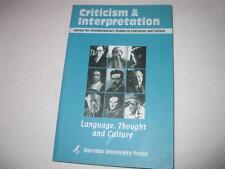 בקורת ופרשנות : כתב-עת בין-תחומי לחקר ספרות ותרבות CRITICISM & INTERPRETATION