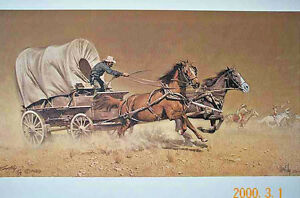 FRANK MCCARTHY - RACE WITH THE HOSTILES - MINT UNFRAMED - SIGNED / NUMBERED