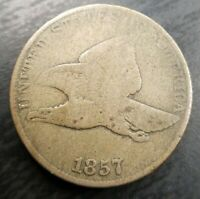 1857 Flying Eagle Cent Very Good VG almost Fine F Problem Free