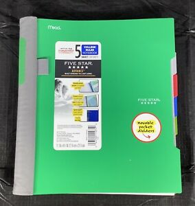 Five Star Advance 5 Subject College Ruled Notebook - Various colors available