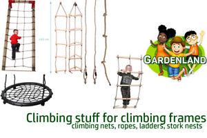 Climbing stuff for climbing frames rope, storks nets, ladders, climbing nets