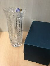 Vase Bohemia 24% Lead Crystal Hand Cut Fine Glas Czech Design wie Neu in OVP
