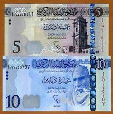 SET Libya, 5;10 Dinar, 2015 (2016), Pick New, UNC