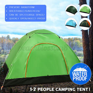 Automatic Open 1-2 People Camping Tent Double Beach Picnic Tents Rainproo /m