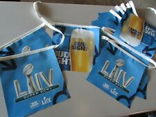 28' Bud Light Super Bowl Liv Football Party Beer Sign String Banner Chiefs 49ers