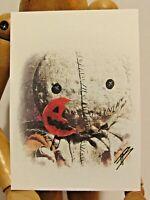 SAM Trick r Treat ACEO Print Card By Phil Born Halloween Horror Movie