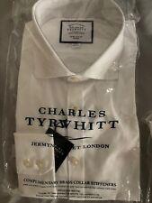 Mens Charles Tyrwhitt Formal Shirt in White - Non Iron - Extra Slim Fit - New
