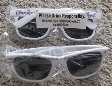 CROWN ROYAL PROMOTIONAL SUNGLASSES LOT OF 2 RARE WHITE AND PURPLE SHADES