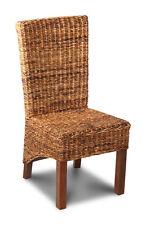Havana Rollback Rattan Dining Chair Dark Leg