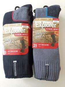 4/8 Pack Explorer Extreme Impact Mens Work Cotton Crew socks size 6-10 11-14
