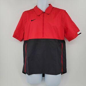 Mens Nike Short Sleeve 1/2 Zip Football Windbreaker Coaching Jacket CI4479 SZ M