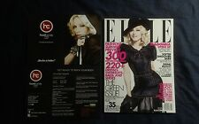 MADONNA ELLE MAGAZINE USA EDITION MAY 2008 RARE NEW + OFFICIAL CARD