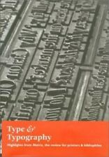 Type & Typography: Highlights from Matrix--The Review for Printers &-ExLibrary