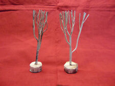 """Christmas Village Lot of Two Winter Trees 5.50"""""""