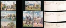 OXFORDSHIRE TUCKS OILETTE 7645 PICTURESQUE OXFORD ARTIST WIMBUSH FINE UNUSED SET