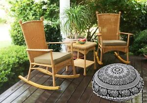 Home Decor Decorative Mandala Round Pillow Cover,Ottoman Bohemian